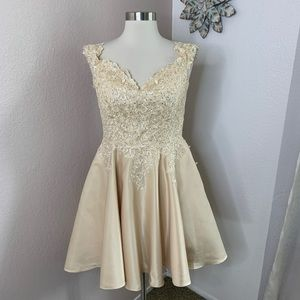 Dancing Queen Formal Dress Lace Crystal Gown